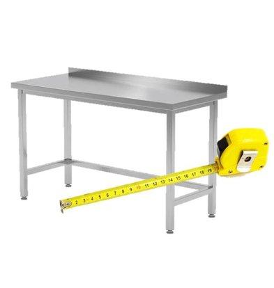 CHRselect Table de Travail INOX sans Étagère Basse | FAIT SUR MESURE