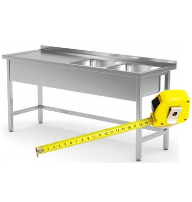 CHRselect Table de Prélavage INOX | FAIT SUR MESURE
