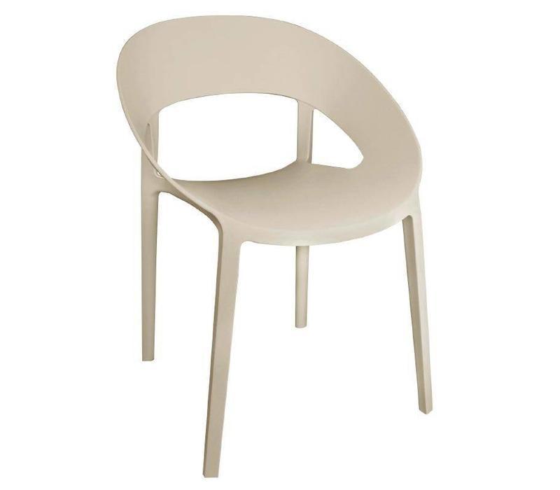 CHRselect Chaise Enveloppante en PP Beige | Empilable | Lot de 12
