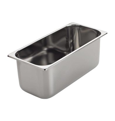 CHRselect Bac à Glace INOX   Gastro M   360x165x80mm   3,4 Litres