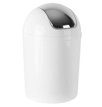 CHRselect Poubelle Plastique Blanc   Couvercle Basculante   5 Litres