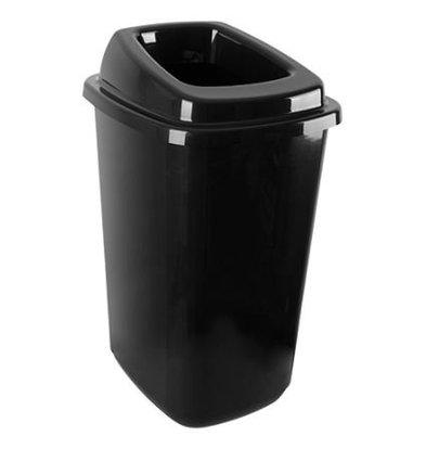 CHRselect Poubelle Triage 45L   Plastique Noir   Autocollants Inclus