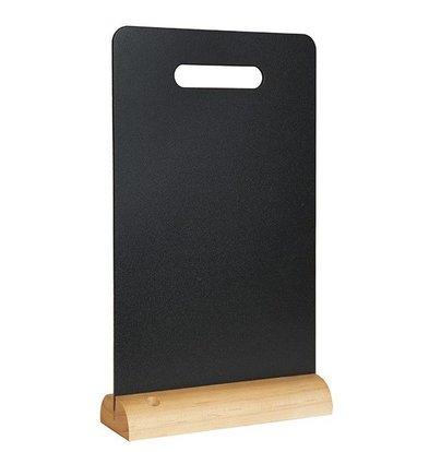 Securit Ardoise de Table 325x210mm | Support en Bois | 1 Craie Inlcus