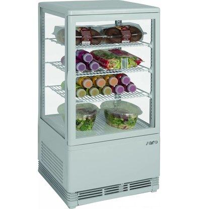 Saro Mini-Vitrine Réfrigérée Blanche | 70 Litres | Ventilé | 430x380x880(h)mm