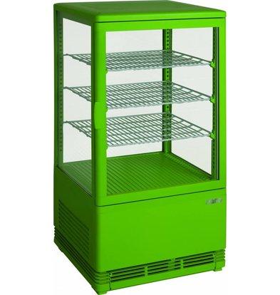 Saro Mini-Vitrine Réfrigérée Verte | 70 Litres | Ventilé | 430x380x880(h)mm