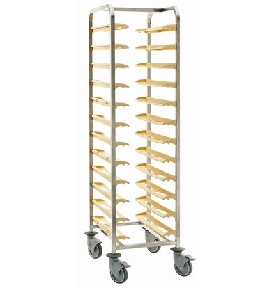Bourgeat Chariot Cafétaria de Débarrassage | pour 12 Plateaux | 640x510x1690mm | Délais 3 Semaines