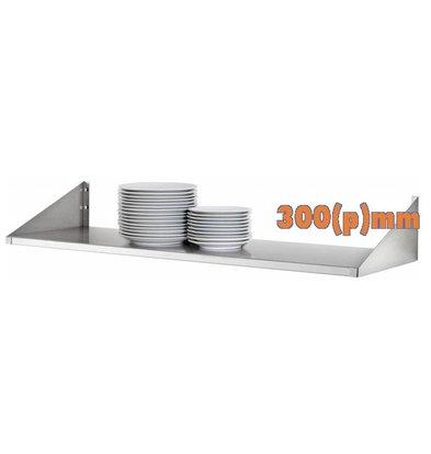Bartscher Étagère Assiette Inox | COMPLÈTE | 300(p)mm | Disponibles en 4 Largeurs