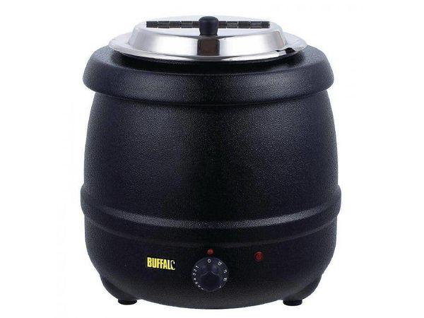 Buffalo Marmite à Soupe | 10 Litres | Noir | Ø330x375(h)mm | PROMOTION XXL!