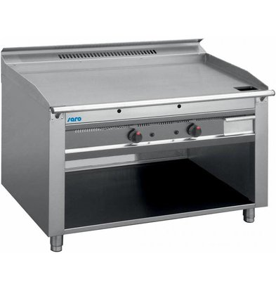 Saro Grill Teppanyaki à Gaz | 3x 5,8kW | Piëzo Allumage | 2 Zones de 0 à 270°C