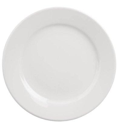 Athena Assiette à Bord Large - Athena - Porcelaine Blanche - 254mm - 12 Pièces