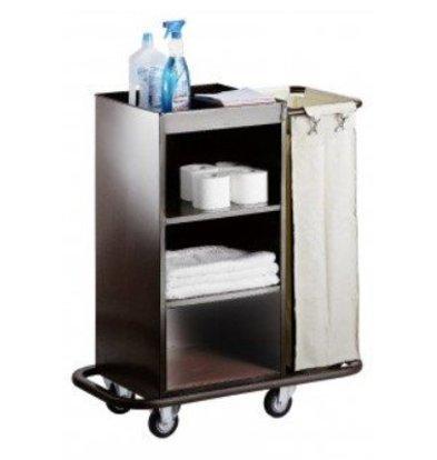 Saro Chariot Room Services Acier + Sac à Linge | 830x450x1120(h)mm