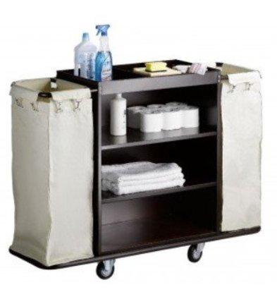 Saro Chariot Room Services Acier + Sacs à Linge | 1420x450x1120(h)mm