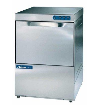 Rhima Lave-Vaisselle 50x50cm | Rhima DR50i Plus | Double Paroi | Doseur de Rinçage + Breaktank + Pompe de Surpresseur