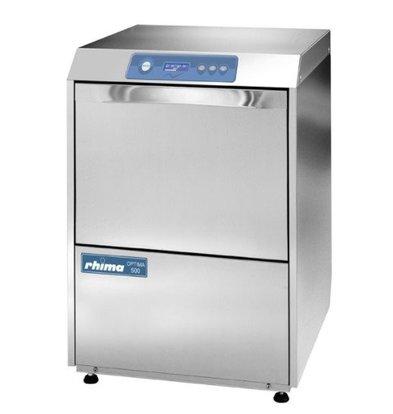 Rhima Lave-Vaisselle 50x50cm | Rhima Optima 500 Plus | Double Paroi | Doseur de Rinçage + Lavage + Pompe de Vidange