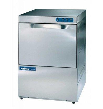 Rhima Lave-Vaisselle 50x50cm | Rhima DR50 | 230/400V | Simple Paroi | Doseur de Rinçage