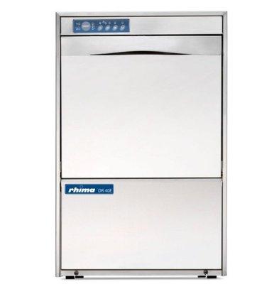 Rhima Lave-Verres DIGITAL 40x40cm | Rhima DR40E Plus | 230V | Double Paroi | Doseur de Rinçage + Pompe Surpresseur
