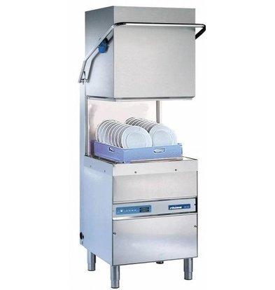 Rhima Lave Vaisselle à Capot 50x50cm | Rhima DR60i Plus | max. (H)410mm | Doseur de Rinçage + Breaktank + Pompe Surpresseur