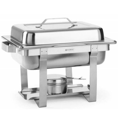 Hendi Chafing Dish GN 1/2 Inox - 4,5 Litres - Modèle Petit