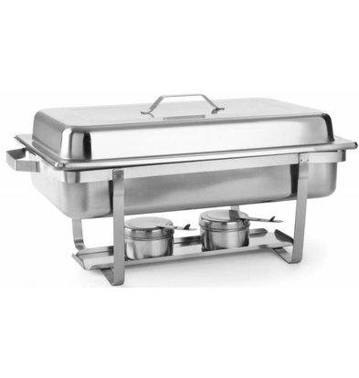 Hendi Chafing Dish GN 1/1 Inox - 9 Litres - 600x358x295(h)mm