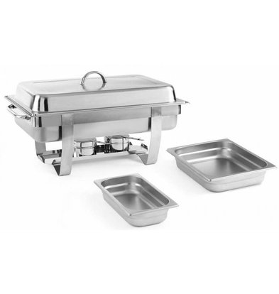 Hendi Chafing Dish avec 5 Bacs GN Supplémentaires   Inox