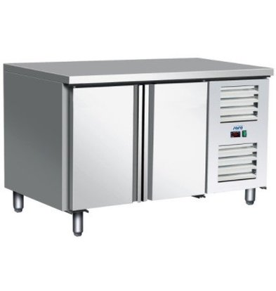 Saro Comptoir Congelé   Inox   2 Portes   Réfrigérant R404A   1360x700x(h)890/950mm
