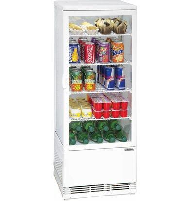Casselin Vitrine Réfrigérée Positive | 98 Litres | 160W | 425x380x1100(h)mm