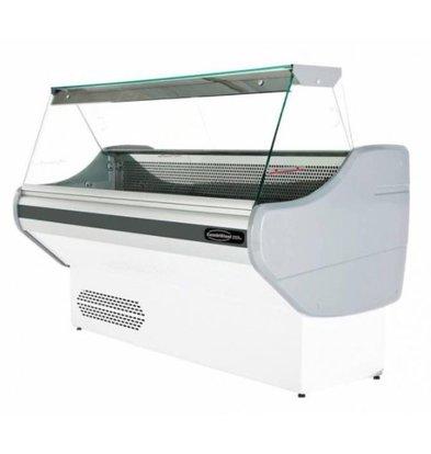 Combisteel Vitrine Réfrigérée Blanc | +1/+10°C | Eclairage | Disponibles en 3 Tailles