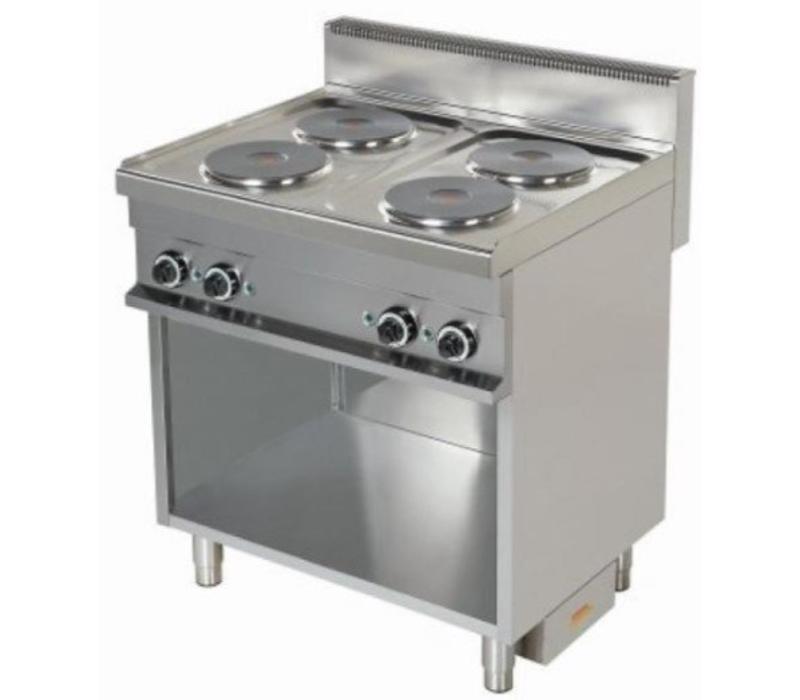 Combisteel Cuisinière Électrique   4 Plaques   Support Ouverte   4x 2,6kW   800x700x900(h)mm