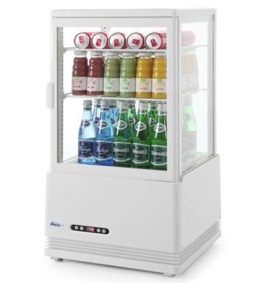 Hendi Vitrine Réfrigérée Sur Table | 58 Litres | Sans Condensation | 3 Étagères | 452x406x(H)816mm