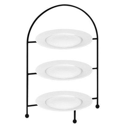 CHRselect Présentoir Petit-Fours | Assiettes Porcelaine Inclus | 26(h)cm