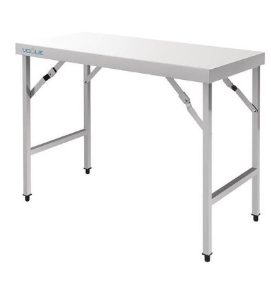 CHRselect Table De Travail Rabattable Inox - 1800(l)x600(p)x900(h)mm