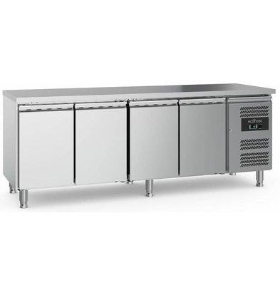 Combisteel Comptoir Réfrigéré INOX | 4 Portes | 553 Litres | 2230x700x850(h)mm