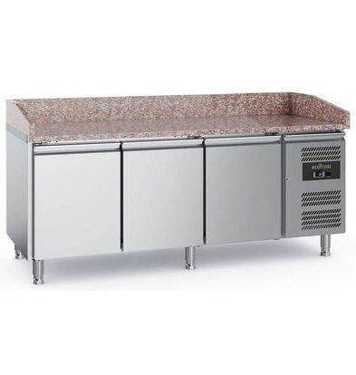 Combisteel Comptoir à Pizza Inox | 3 Portes | 2020x800x1000(h)mm