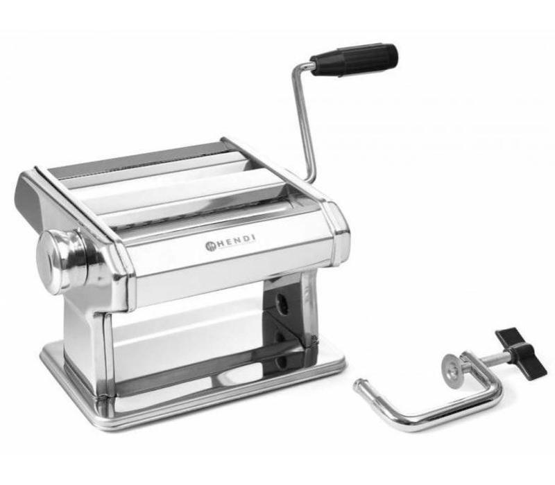Hendi Machine à Pâtes Manuelle | Epaisseur 0,2 à 2,5mm | 440x382x(H)340mm