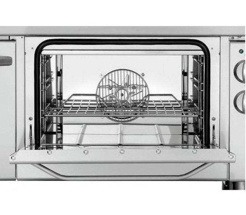 Bartscher Cuiseur Électrique avec Four | 6 Plaques de Cuisson Ø220mm | 400V | Gastronorm 1/1 | 1200x700x850(h)mm
