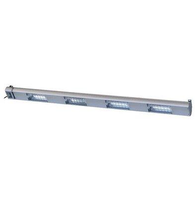 Roband Lampe Chauffante à Quartz | 4 Lampes Integrées/ 1400W | Dim. 1500mm | avec Intérrupteur!