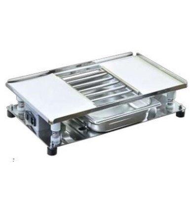 CHRselect Table vibrante | Incl. Grille et collecteur | 540x320mm