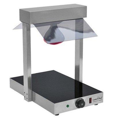Emga Plaque Chauffante Céramique | GN1/1 | 400W | Ampoule Infra. Incl. | 380x580x570(h)mm