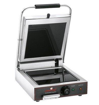 Emga Grill de Contact Vitrocéramique 400°C | 25x25cm | 1600W | 340x480x170(h)mm