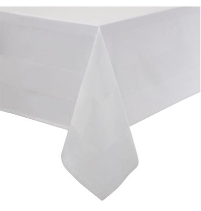 CHRselect Nappe Bande de Satin | Carré | 100% Coton  Blanc | Disponibles en 6 Tailles
