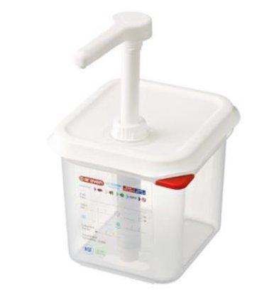 Emga Distributeur de Sauces | Plastique Transparent | GN1/6 - 150mm