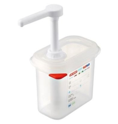 Emga Distributeur de Sauces | Plastique Transparent | GN1/9 - 150mm