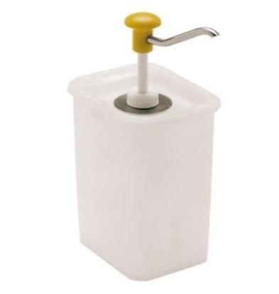 Emga Distributeur de Sauces Plastique | 3 Litres | Avec Pompe