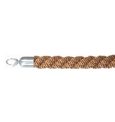 Securit Corde Bronze Tressée | Embouts Chrome | 150cm