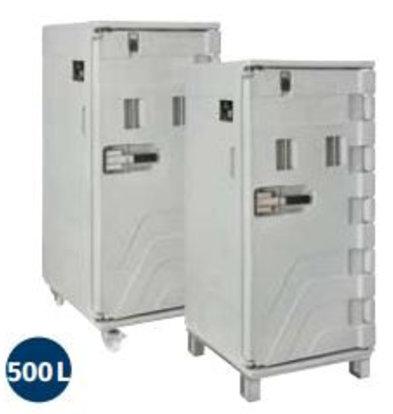 Linum Container Isotherme Serie Cargo | Avec Roues | 500 Litres | -30° à +100°C | 715x850x(h)1675mm