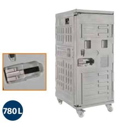 Linum Container Isotherme Serie Cargo | Avec Roues | 780 Litres |800x1000x(h)1950 mm