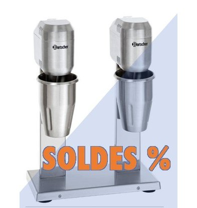 Bartscher Mixer à Boissons Inox Double | 2x700ml | 800W | PROMOTION XXL!