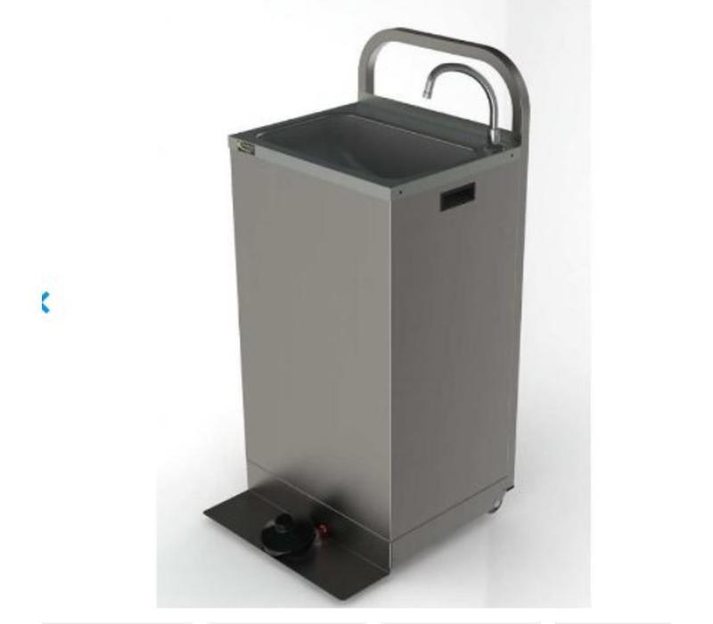 CHRselect Lavabo Portable Inox | Avec Commande aux Pieds | Inclus 2 Jerrycans de 13 Litres