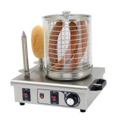Buffalo Chauffe-Saucisses INOX | 2 Plots | 550W | Thermostat Réglable | 410x340x370(h)m
