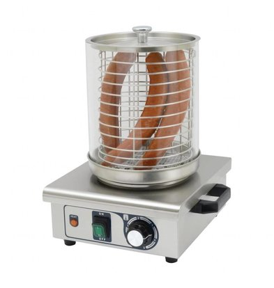Buffalo Chauffe-Saucisses INOX | 450W | Thermostat Réglable | 340x340x370(h)mm